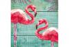 Serviette Summer Flamingos
